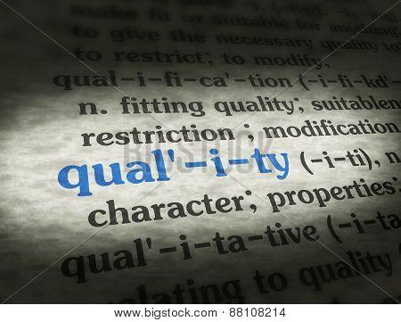 Dictionary Quality Blue On Bg