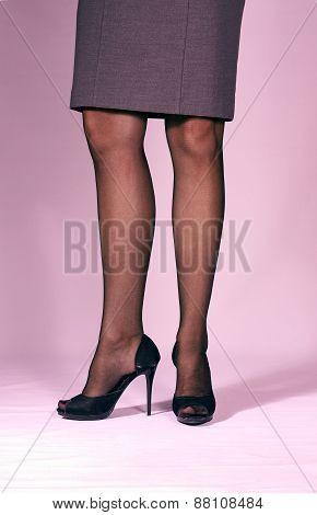 slender womans legs