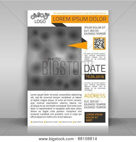 Business Flyer with Yellow Line.