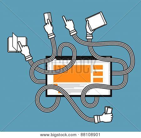 Human gestures using modern website
