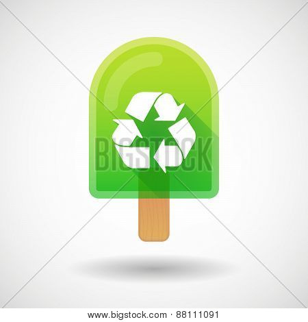 Ice Cream Icon With A Recycle Sign