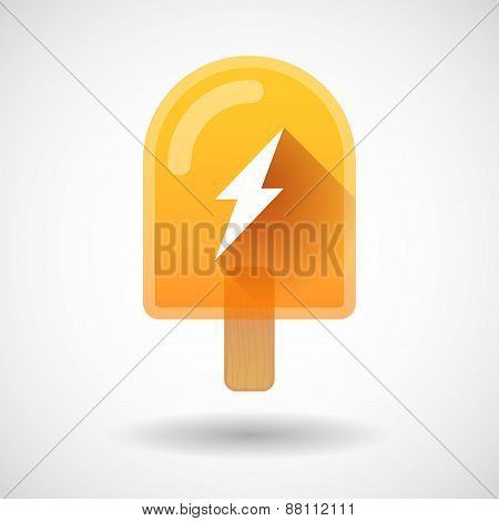 Ice Cream Icon With A Lightning