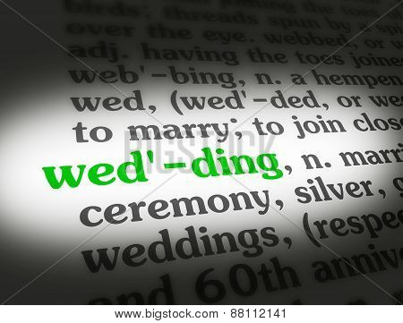 Dictionary Wedding