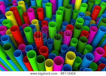 Stack Of Plastic Pipe