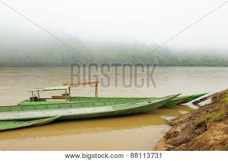 Wild Rivers On An Island Borneo In Indonesia
