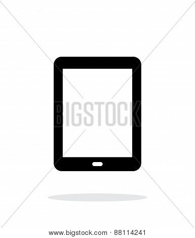 Tablet screen simple icon on white background.