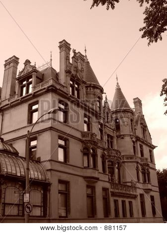 Burrage House Series Sepia Twelve