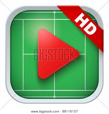 Application icon for live sports broadcasts or games