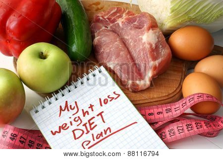 weight loss diet plan and raw organic food.