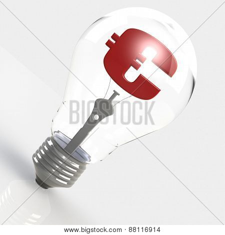 Euro Sign In The Light Bulb