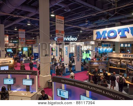 LAS VEGAS, NV - April 15: NAB Show 2015 exhibition in Las Vegas. 1726 technology exhibitors showcased on an a 2,000,000 sq feet space of Las Vegas Convention Center during April 13-16.