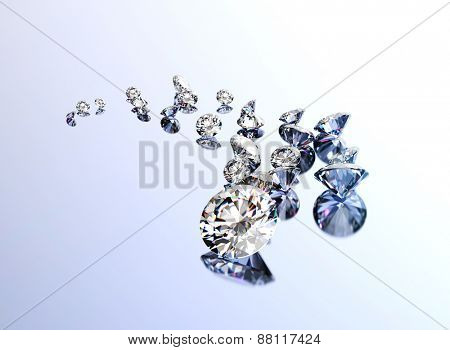 Background with set of many different gemstones
