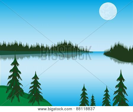 Lake In Wood