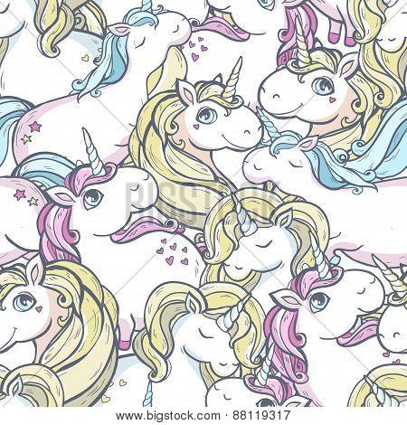 Pattern with unicorns.