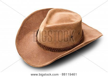 Leather Cowboy Hat Closeup