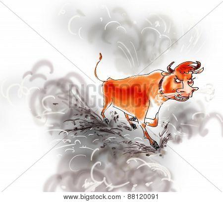 bull running