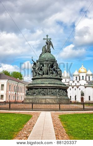 Bronze Monument To The Millennium Of Russia