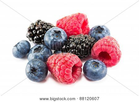 Fresh Ripe Berries On A White Background