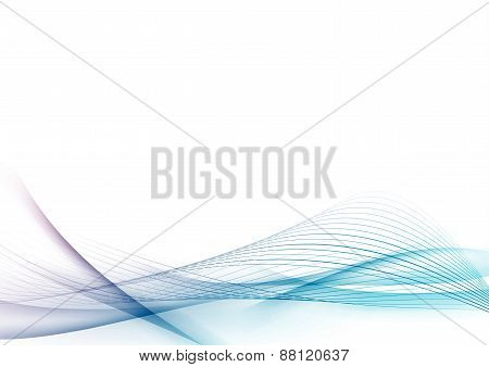 Modern Transparent Smooth Abstract Speed Swoosh Wave Certificate Design Layout
