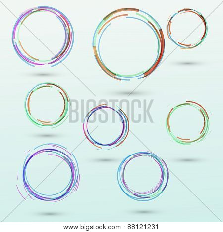 Abstract Circle Design Elements Collection