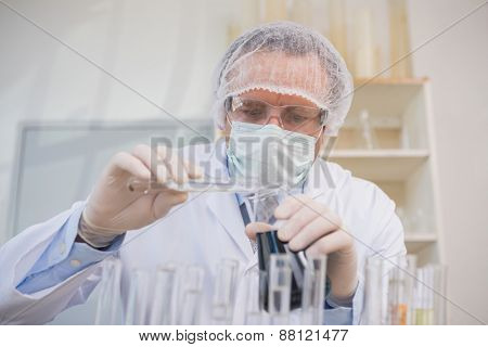 Scientist doing experimentations in the laboratory