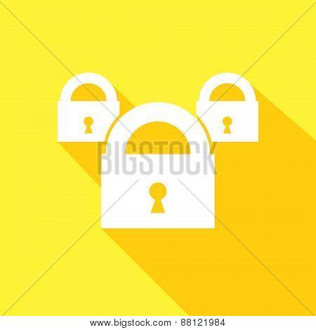 Lock Icon.  Vector illustration.