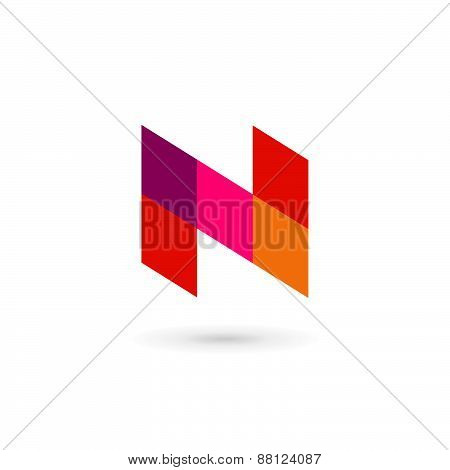 Letter N Mosaic Logo Icon Design Template Elements