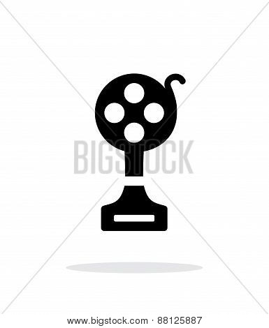 Best film simple icon on white background.