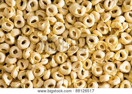 Background Texture Of Italian Tortellini Pasta