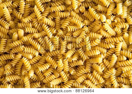 Background Texture Of Italian Rotini Pasta