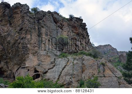 Landscape Of Mountains That Are Close To Geghard Monastery