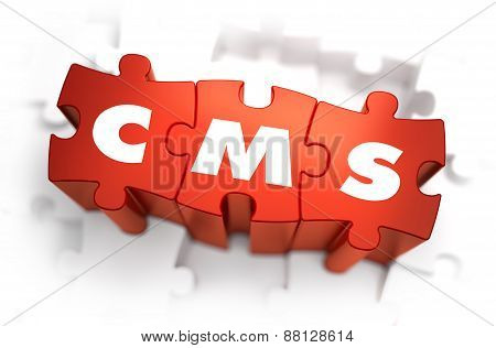 CMS - White Word on Red Puzzles.