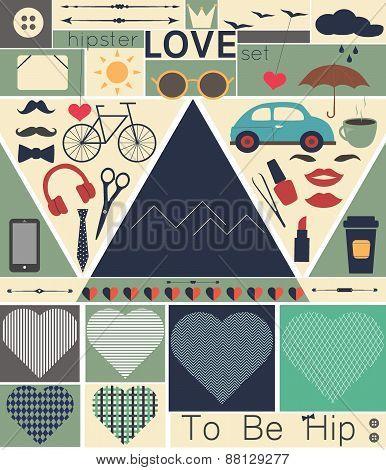Hipster_love_art_set