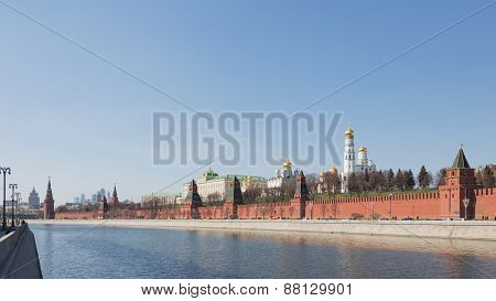 Lovely View Of The Moscow Kremlin