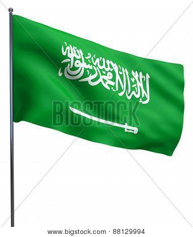 Saudi Arabia Flag Waving