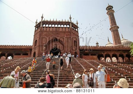 Jama Masjid Of Delhi, India