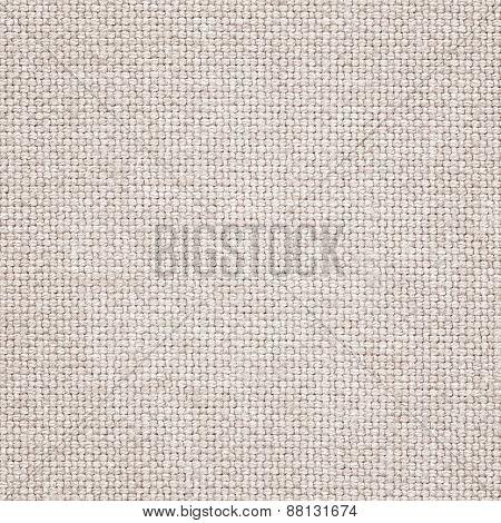 Clean light brown burlap woven fabric texture.