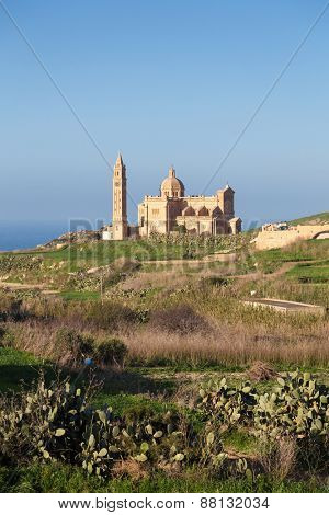 National Shrine of the Blessed Virgin of Ta' Pinu near the village of Ghard on Malta.