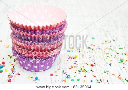 Empty Cupcake Cups