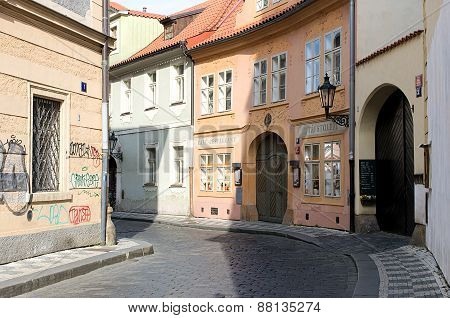 Small Street Near The Charles Bridge In Prague