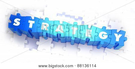 Strategy - White Word on Blue Puzzles.