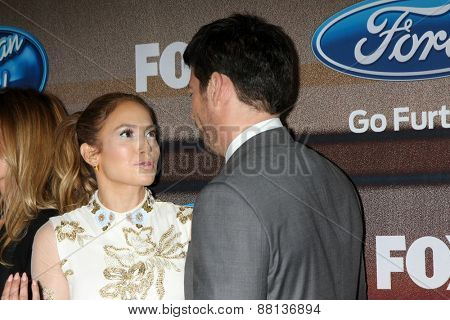 LOS ANGELES - MAR 11:  Jennifer Lopez, Harry Connick Jr. at the