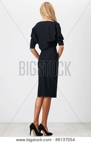 Woman In Black Dress