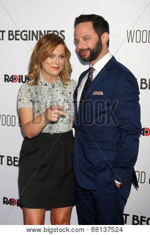 LOS ANGELES - FEB 15:  Amy Poehler, Nick Kroll at the