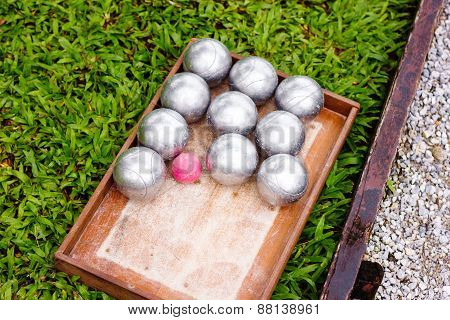 Petanque Metal Balls Ready For Playing