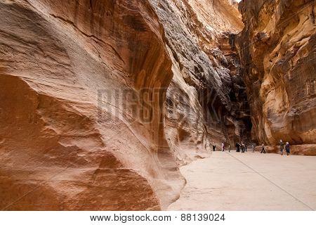 Petra Siq In Jordan