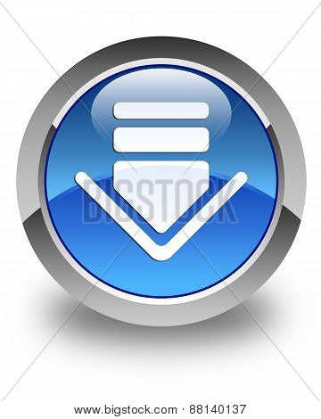 Download Icon Glossy Blue Round Button