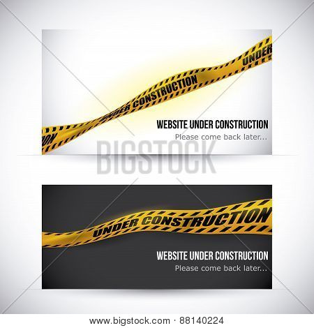 Yellow tape design.