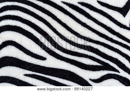 Texture Of Print Fabric Stripes Zebra