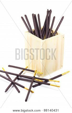 Chocolate biscuit stick